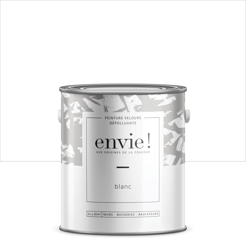 Peinture dépolluante mur, boiserie, radiateur ENVIE blanc velours 2 l