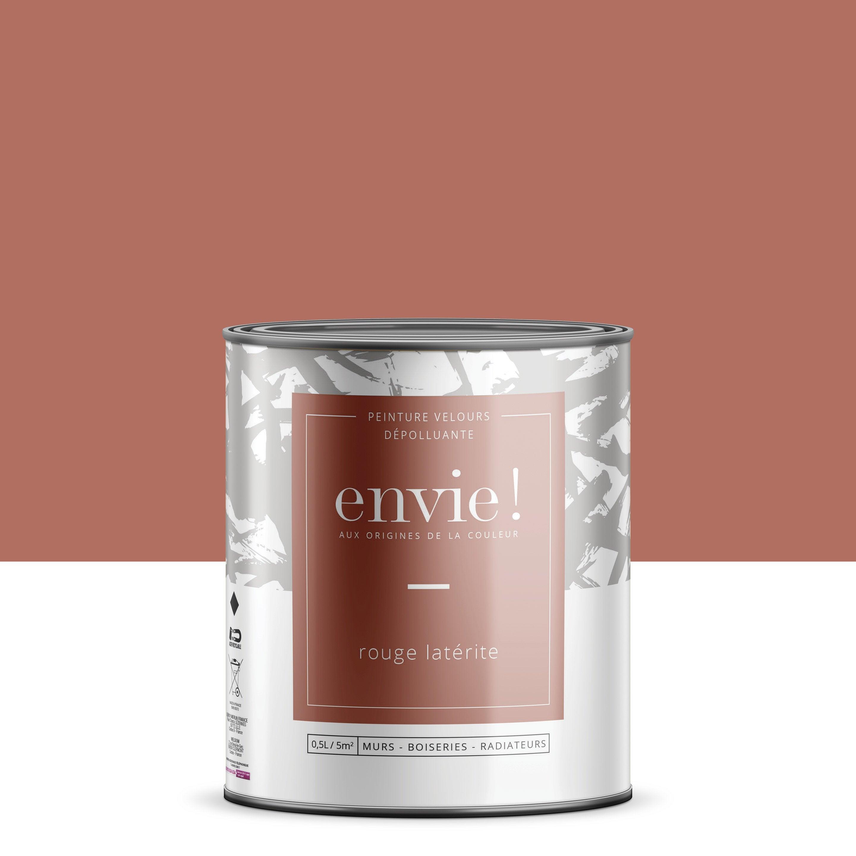 Peinture dépolluante mur, boiserie, radiateur ENVIE rouge latérite velours 0.5 l
