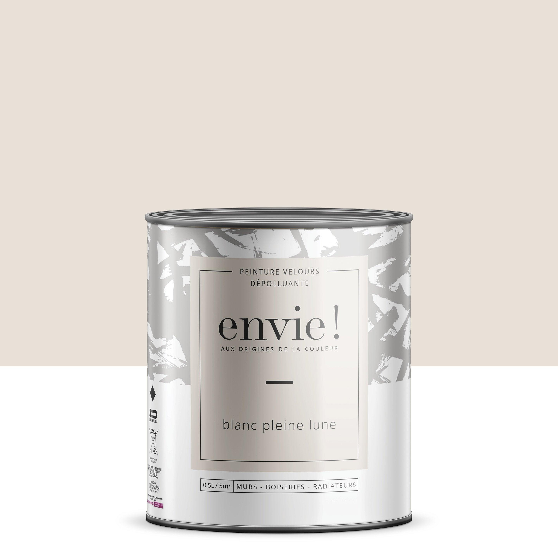 Peinture dépolluante mur, boiserie, radiateur ENVIE blanc lune velours 0.5 l