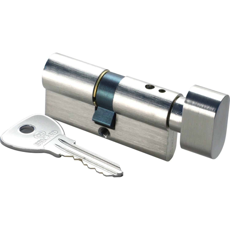 Cylindre De Serrure Bouton L Mm BRICARD Alpha Leroy Merlin - Porte placard coulissante jumelé avec bricard