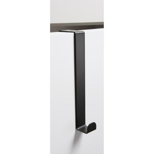 portemanteau acier 1 t te noir leroy merlin. Black Bedroom Furniture Sets. Home Design Ideas