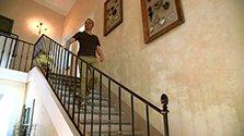 Escalier en pierre vieillie
