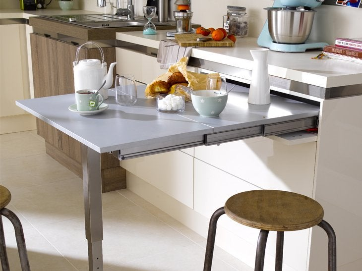 D co table murale rabattable moderne villeurbanne 1136 for Cuisine avec table escamotable