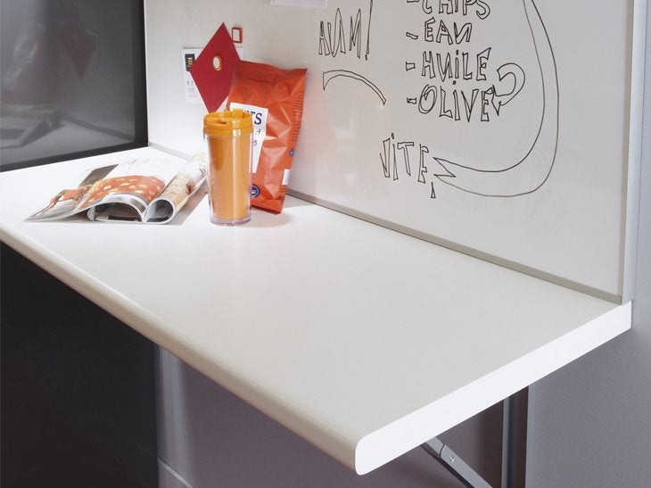 L 39 installation d 39 un coin repas dans la cuisine leroy merlin - Table murale rabattable leroy merlin ...