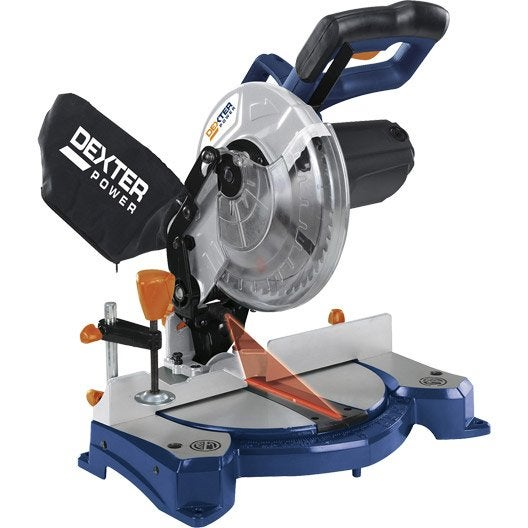 scie à onglet dexter power ms8, 210 mm, 1500 w | leroy merlin