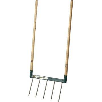Griffe à bêcher acier forgé LEBORGNE manche bois L.110 cm