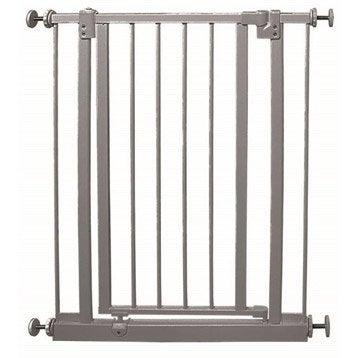 Barrière de sécurité enfant Luna en métal, long. min/max 71/76 cm, H72.50 cm