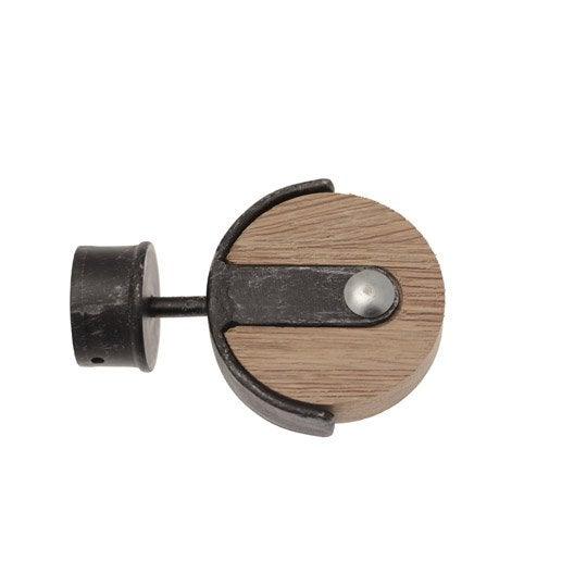 embout inspire noir cuivre bross pour tringle rideau mm leroy merlin. Black Bedroom Furniture Sets. Home Design Ideas