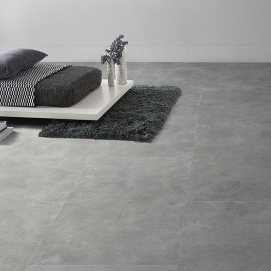Dalle pvc clipsable gris industry dark senso lock gerflor for Dalles pvc clipsables gerflor