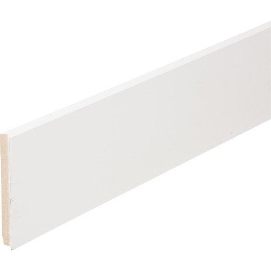 plinthe m dium mdf droite rev tu m lamin blanc 16 x 150 mm l 2 2 m leroy merlin. Black Bedroom Furniture Sets. Home Design Ideas