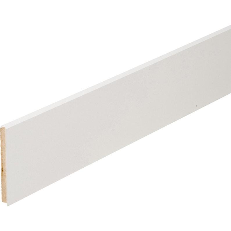Plinthe Médium Mdf Droite Revêtu Mélaminé Blanc 12 X 120 Mm L22 M