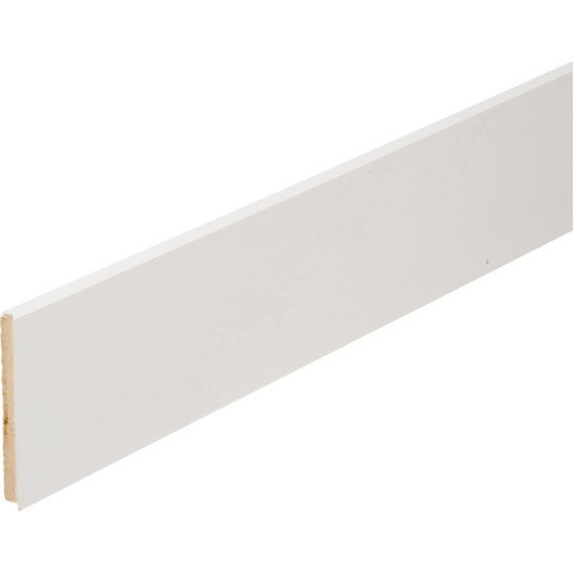 plinthe m dium mdf droite rev tu m lamin blanc 12 x 120 mm l 2 2 m leroy merlin. Black Bedroom Furniture Sets. Home Design Ideas