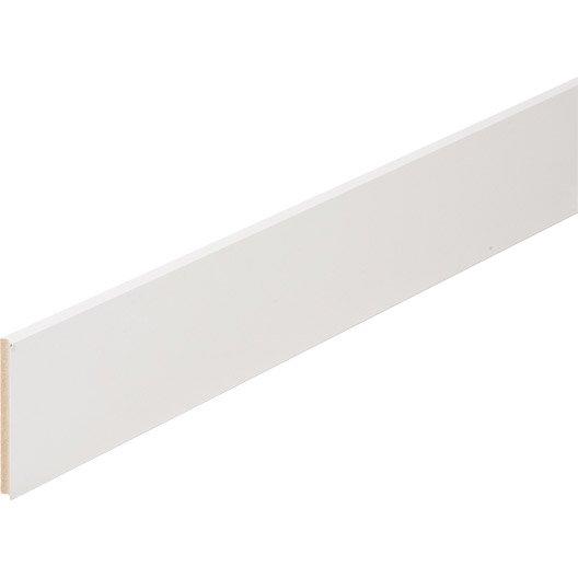 plinthe m dium mdf droite rev tu m lamin blanc 10 x 100 mm l 2 2 m leroy merlin. Black Bedroom Furniture Sets. Home Design Ideas