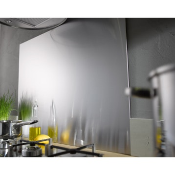cr dence de cuisine et fond de hotte inox verre au. Black Bedroom Furniture Sets. Home Design Ideas