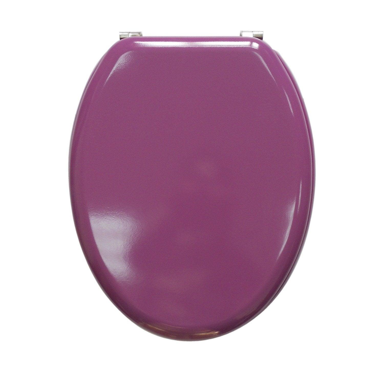 abattant violet bois compress sensea young - Lunette Wc Leroy Merlin