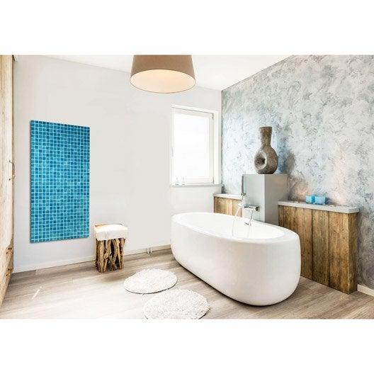 radiateur lectrique rayonnement decowatt mosaique thermes 750 w leroy merlin. Black Bedroom Furniture Sets. Home Design Ideas