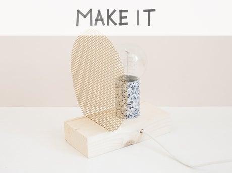 diy cr er une lampe de chevet ou une lampe poser. Black Bedroom Furniture Sets. Home Design Ideas