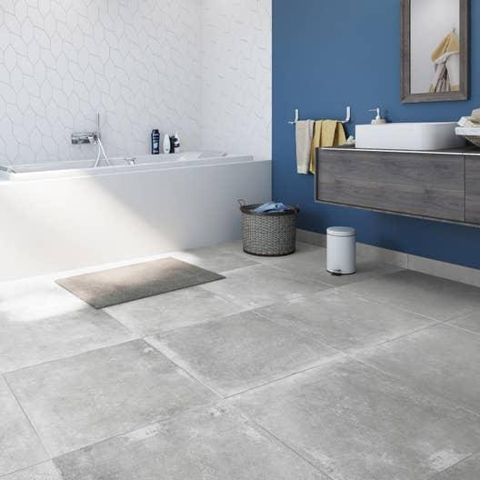 carrelage sol et mur gris cendre effet b ton harlem x cm leroy merlin. Black Bedroom Furniture Sets. Home Design Ideas