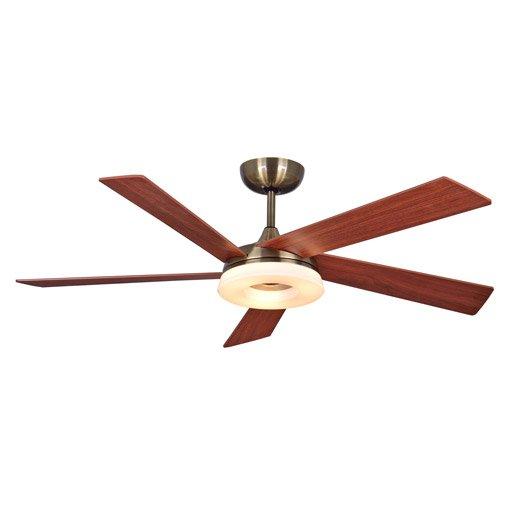 ventilateur de plafond kamsin inspire, marron, 7 w | leroy merlin