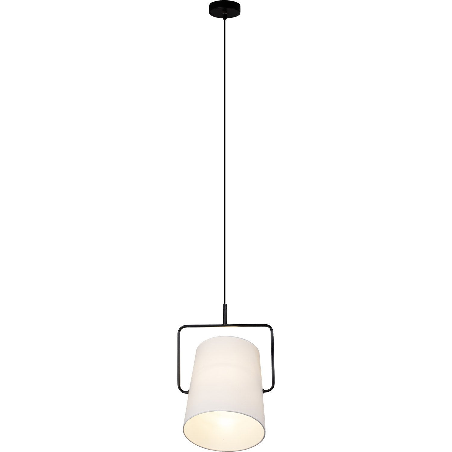 Suspension, e27 design Bucket métal noir 1 x 60 W BRILLIANT