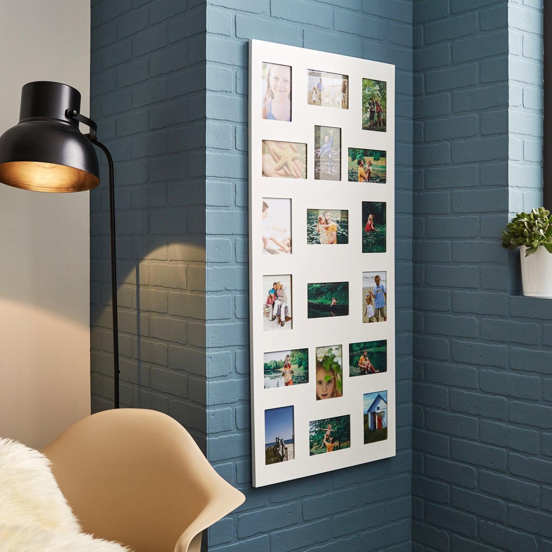 un cadre photo multivues blanc pour décorer son intérieur   leroy merlin