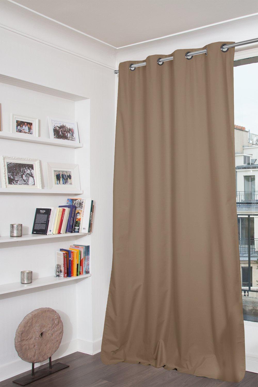 Réchauffez votre intérieur, avec un rideau occultant taupe | Leroy ...