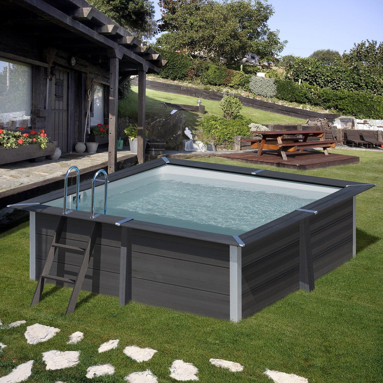 Piscine En Palette De Bois piscine composite gre, l.3,26 x l.3,26 x h.0.96 m