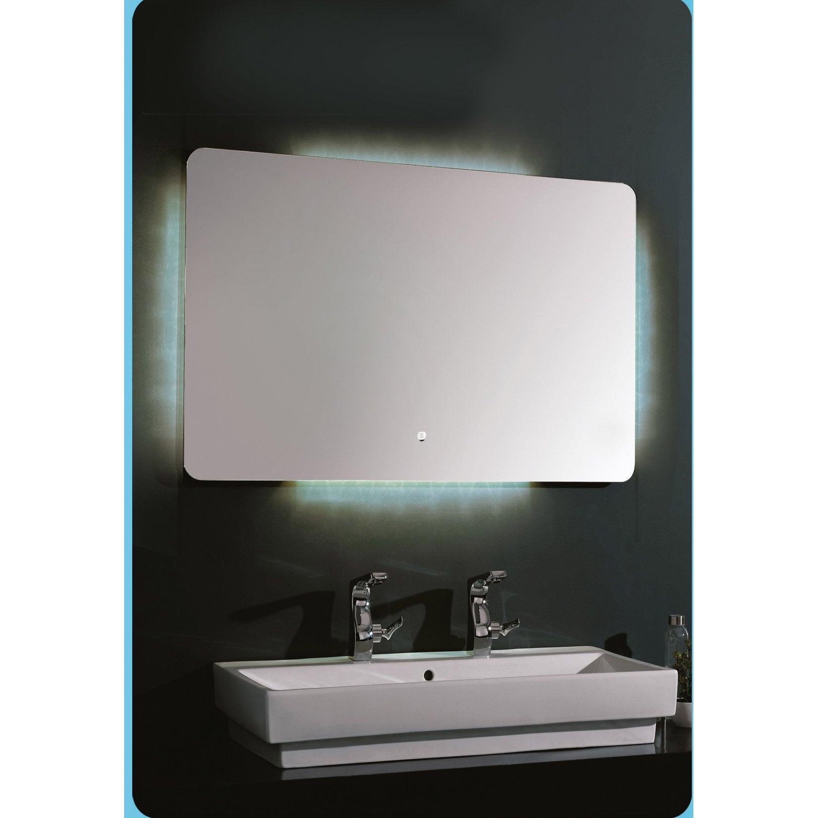 Miroir Salle De Bain 120 Cm miroir avec éclairage intégré, l.120 x h.80 cm silver moon