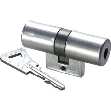Cylindre de serrure 33.5+33.5 mm, 14 goupilles, BRICARD modèle Bloctout