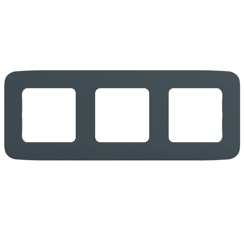 Plaque triple Cosy, LEXMAN gris zingué n°1 | Leroy Merlin