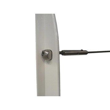 5 départ de câble et tendeurs TIERAL pour garde-corps en métal gris, H.8 x l.1cm