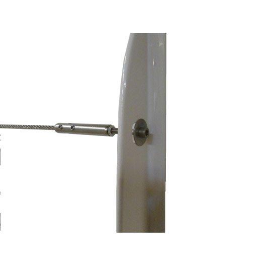 5 d part de c ble et tendeurs tieral pour garde corps en m tal gris h 8 x l - Balustrade inox leroy merlin ...