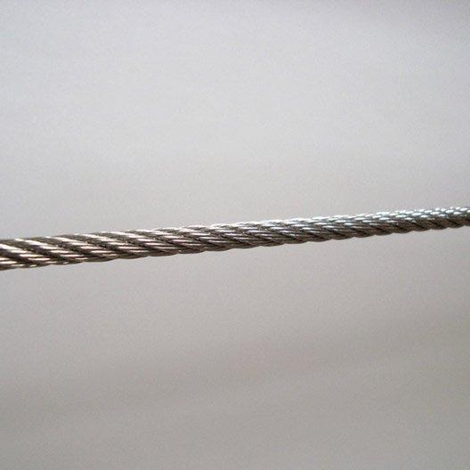 C ble pour garde corps tieral m tal gris x l 0 5 cm leroy merlin - Garde corps inox leroy merlin ...