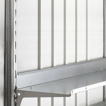 Fixation verticale en acier galvanisé BIOHORT Europa, l.5 x H.0.05 x P.173 cm