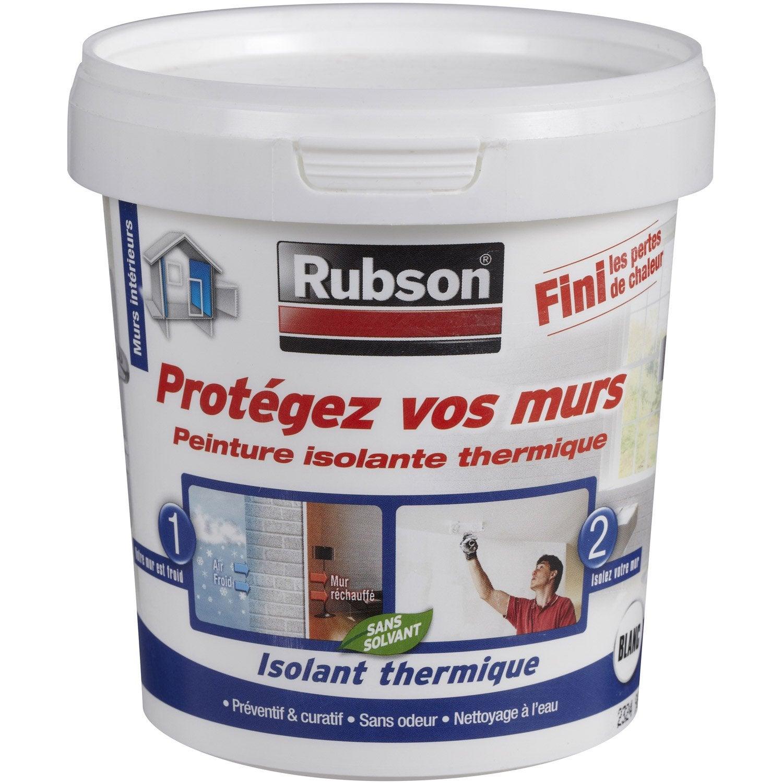 Peinture Thermique Protégez Vos Murs Rubson Blanc 0 75 L Leroy Merlin