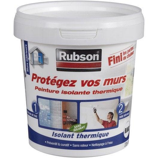 Peinture thermique prot gez vos murs rubson blanc l leroy merlin for Peinture porte interieure leroy merlin