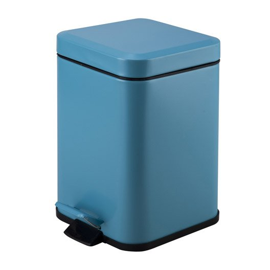 Poubelle de salle de bains 3 l bleu atoll 4 sensea kub - Poubelle de salle de bain en bois ...