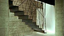 Escalier léger en acier