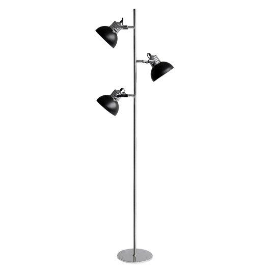 Lampadaire charlie 150 cm noir 40 w leroy merlin - Lampadaire spots orientables ...