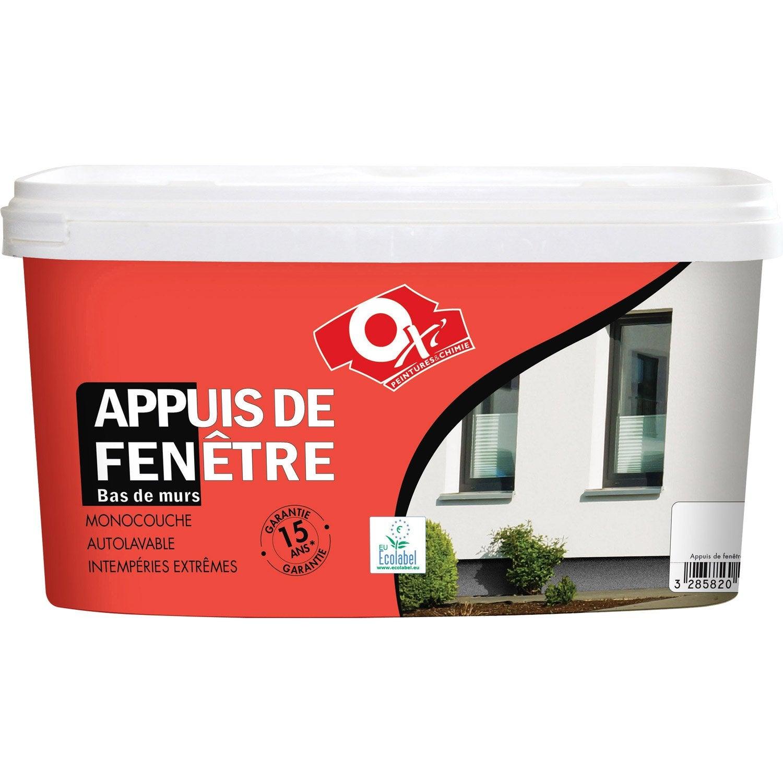 Peinture Appui De Fenêtre Oxytol Blanc 25 L Leroy Merlin