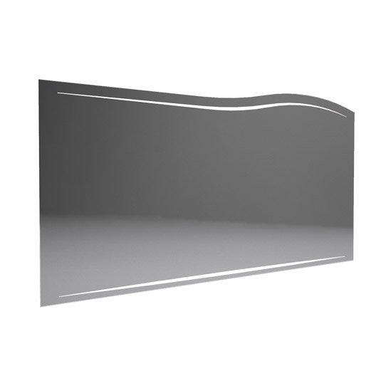 Miroir avec clairage int gr decotec el gance l130xh64 for Miroir salon leroy merlin