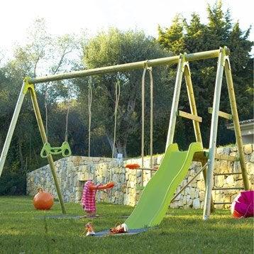 portique balan oire et aire de jeux pour enfants. Black Bedroom Furniture Sets. Home Design Ideas
