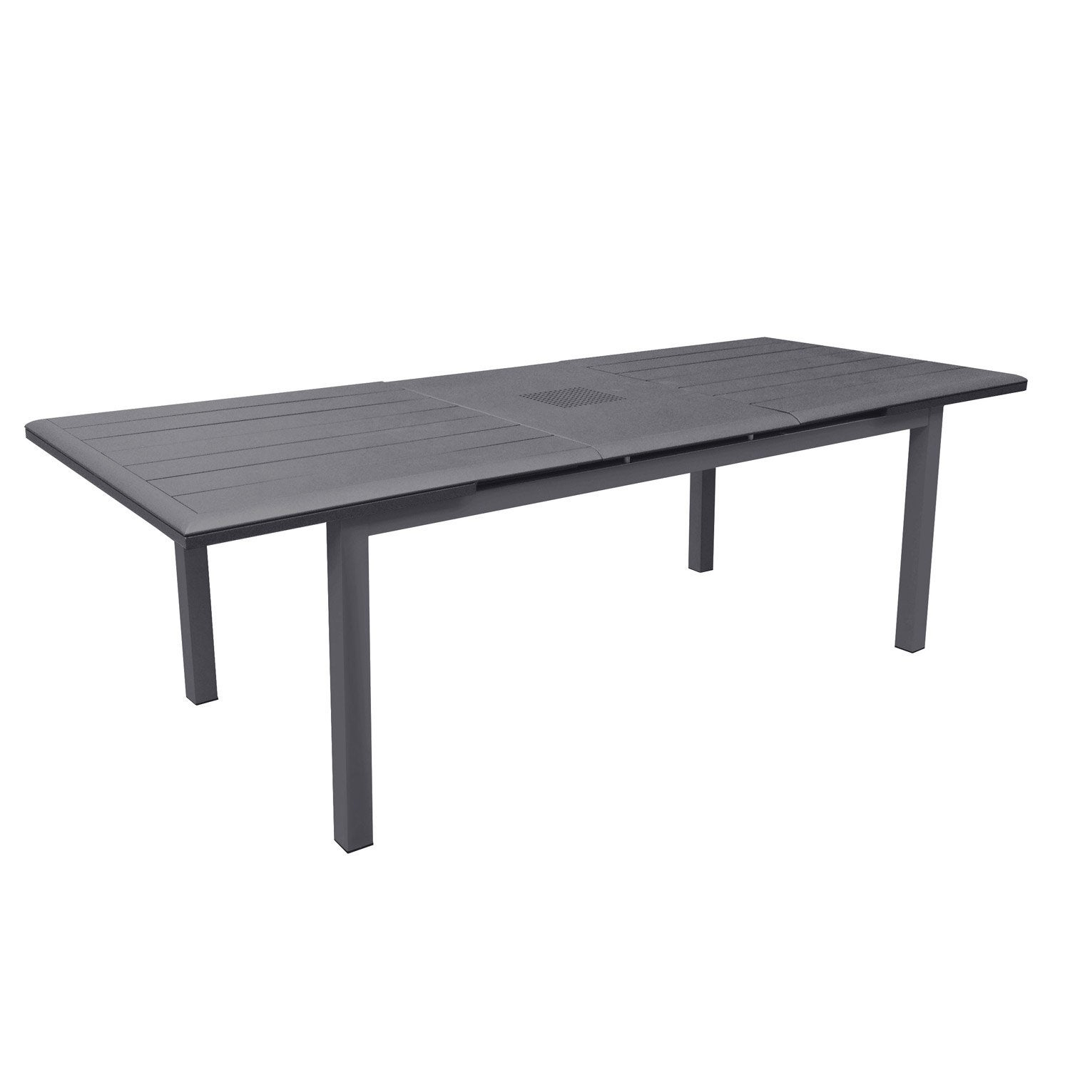 table de jardin louisiane rectangulaire gris 6 8 personnes leroy merlin. Black Bedroom Furniture Sets. Home Design Ideas