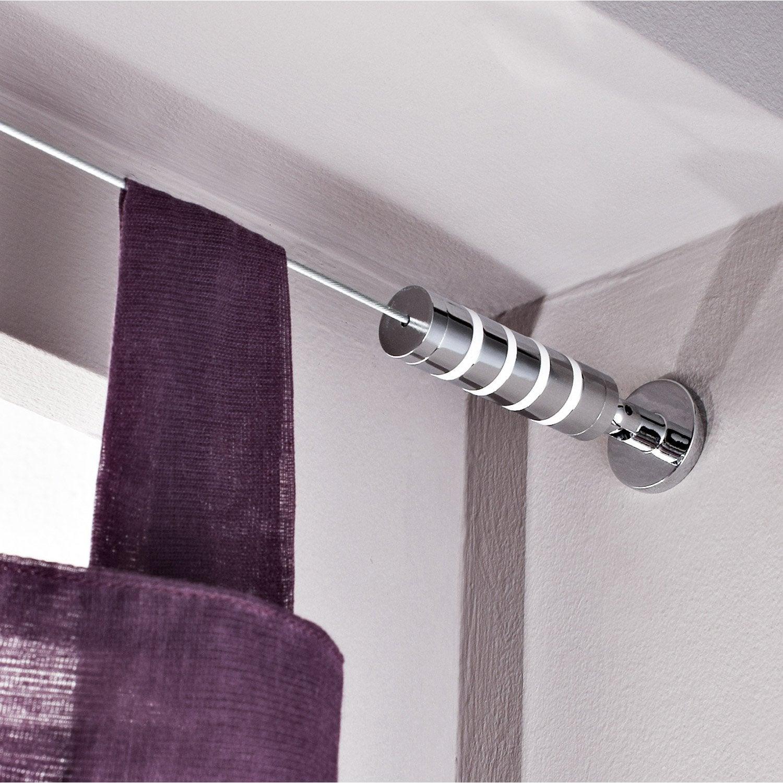 Kit complet câble pour mur et plafond Platinium, chromé, L.5 m ...