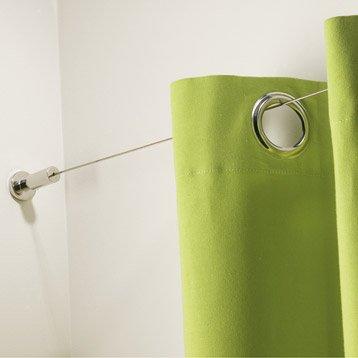 C ble et accessoires barre rideau tringle rail et c ble leroy merlin - Barre a rideau entre 2 murs ...