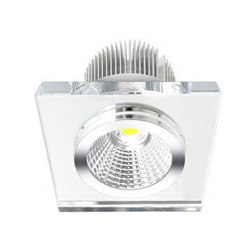 Kit 1 spot à encastrer Rende fixe INSPIRE LED intégrée transparent