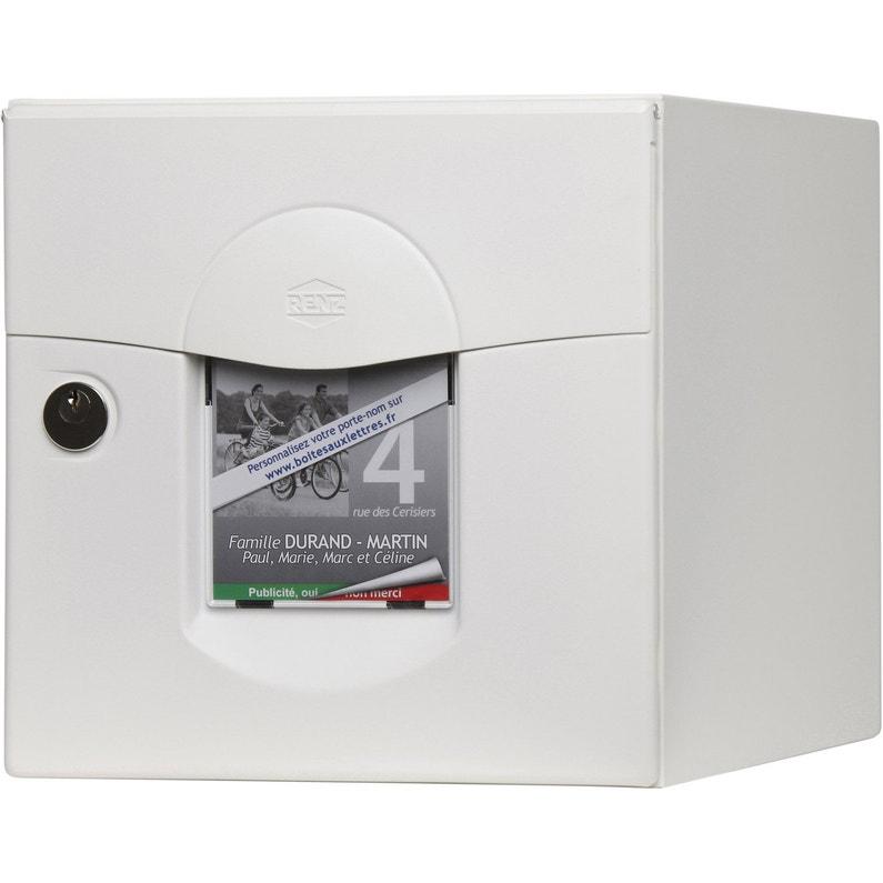 Boîte Aux Lettres Normalisée 2 Portes Extérieur Renz Solea Acier Blanc