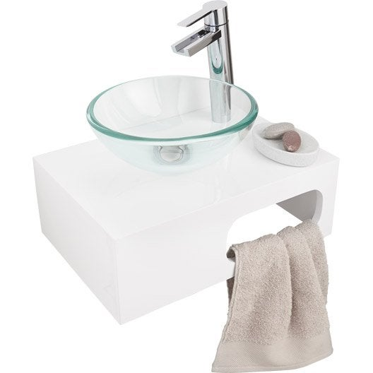 lave mains verre transparent x cm eva leroy merlin. Black Bedroom Furniture Sets. Home Design Ideas