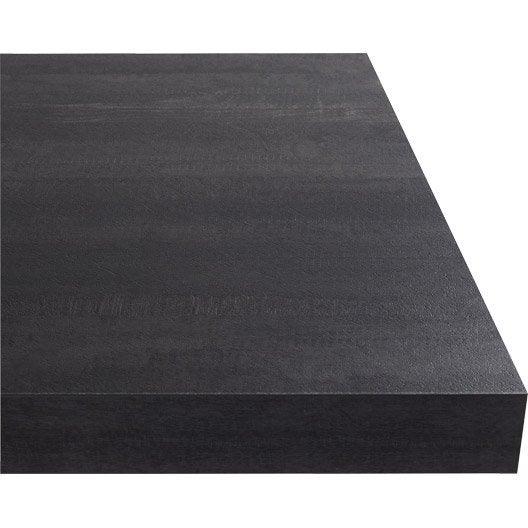 plan de travail stratifi new vintage wood noir mat. Black Bedroom Furniture Sets. Home Design Ideas