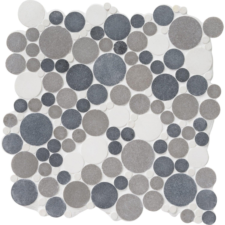 mosa que sol et mur splash gris et blanc leroy merlin. Black Bedroom Furniture Sets. Home Design Ideas
